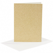 Creotime Glitter Set of 4 Cards and 4 Envelopes